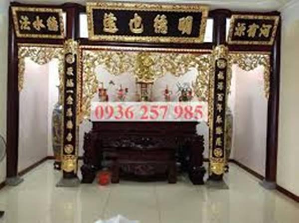 Đồ thờ cúng bằng gỗ đẹp tại làng nghề Sơn Đồng-1