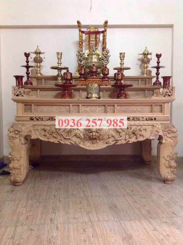 Mẫu bàn thờ tam cấp gỗ tràm loại 1