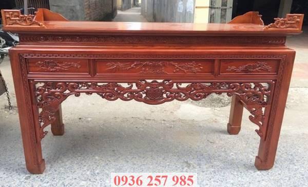 Những mẫu bàn thờ đẹp bằng gỗ mít, gỗ gụ, gỗ hương, xoan đào-1
