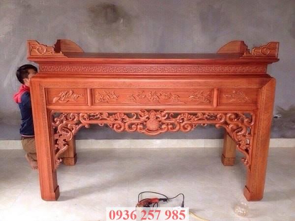 Những mẫu bàn thờ đẹp bằng gỗ mít, gỗ gụ, gỗ hương, xoan đào-2
