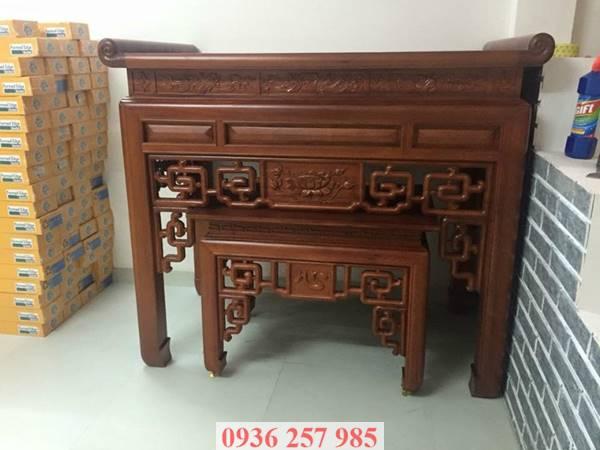Những mẫu bàn thờ đẹp bằng gỗ mít, gỗ gụ, gỗ hương, xoan đào-3