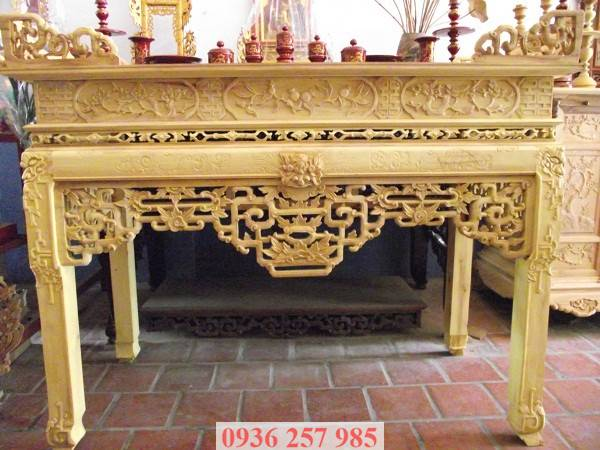 Những mẫu bàn thờ đẹp bằng gỗ mít, gỗ gụ, gỗ hương, xoan đào-4