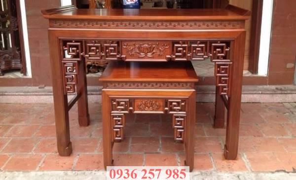Những mẫu bàn thờ đẹp bằng gỗ mít, gỗ gụ, gỗ hương, xoan đào-5