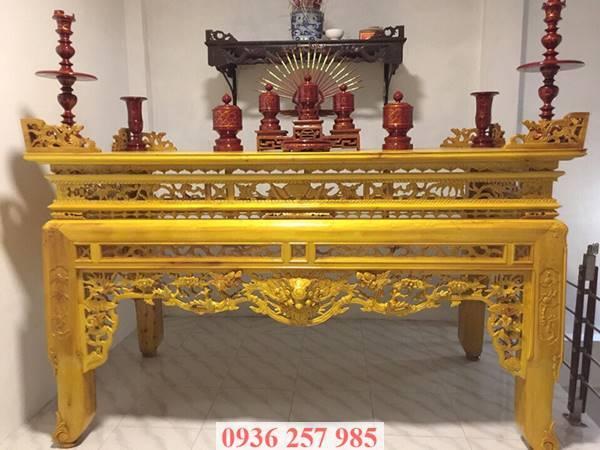 Những mẫu bàn thờ đẹp bằng gỗ mít, gỗ gụ, gỗ hương, xoan đào