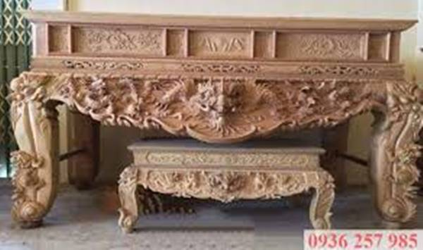 Những mẫu sập thờ gỗ đẹp của làng nghề Sơn Đồng-1