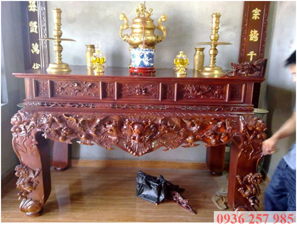 Những mẫu sập thờ gỗ đẹp của làng nghề Sơn Đồng