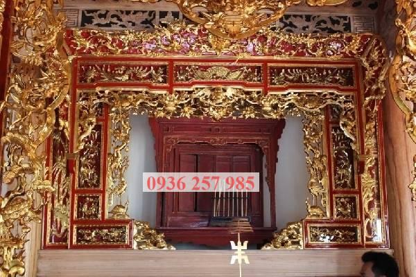 Mẫu cửa võng đẹp cho phòng thờ gia tiên, từ đường-1