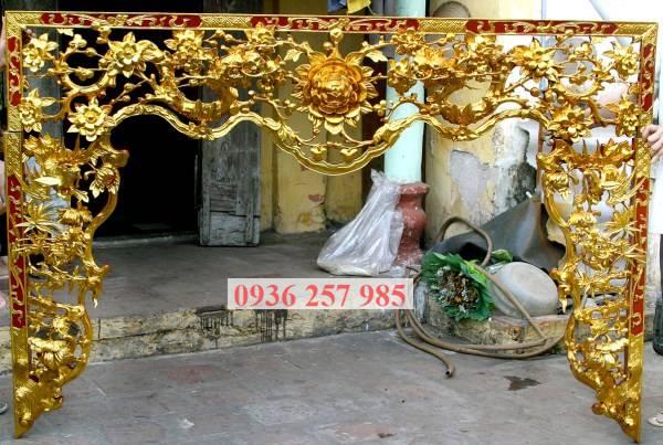Mẫu cửa võng đẹp cho phòng thờ gia tiên, từ đường-2